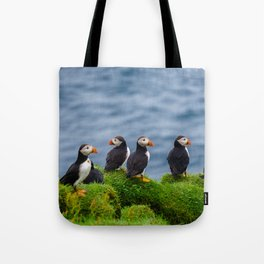 The Puffins of Mykines in the Faroe Islands X Tote Bag