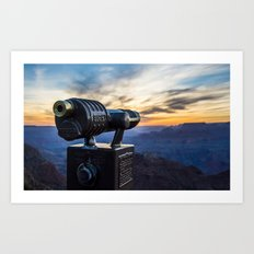 Grand Canyon Viewer in Color Art Print