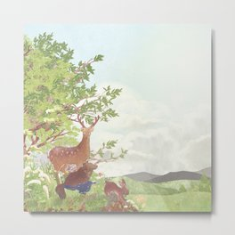 After the sudden shower | Moharu Shirahata Metal Print