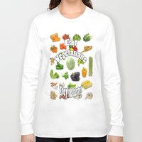 vegetarian Long Sleeve T-shirts featuring Eat A Vegetarian by Uncle Jeffrey