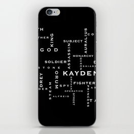 Order of the MoonStone Word Puzzle iPhone Skin