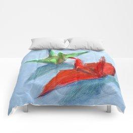 Origami Cranes Comforters
