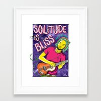 tame impala Framed Art Prints featuring Solitude is Bliss - Tame Impala by João Tiago Camargo