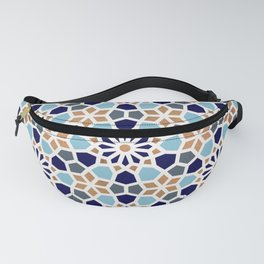 Persian Mosaic – Blue & Gold Palette Fanny Pack