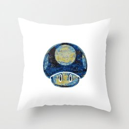 Starry Night Shroomy Throw Pillow