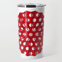 Lantern of white polka dots Travel Mug