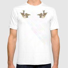 Flying Little Bird Mens Fitted Tee White SMALL