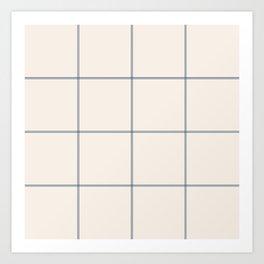 windowpane plaid Art Print