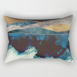 Blue Mountain Reflection Rectangular Pillow