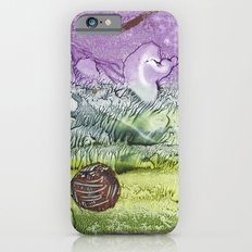 Cat smile - abstract watercolor painting Slim Case iPhone 6s