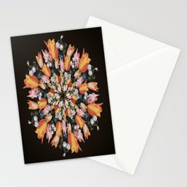 Flemish Floral Mandala 2 Stationery Cards