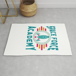 Space Force Academy Art, Vintage Retro Novelty Gift Light Rug