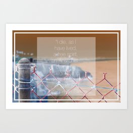 Fenced in by Society Art Print