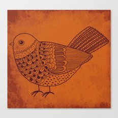Retro Pigeon Canvas Print