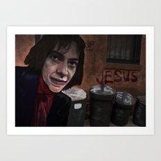 Busker Jesus Art Print