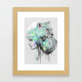 ∩ : leopard Framed Art Print