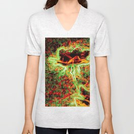 Electric Rose Unisex V-Neck