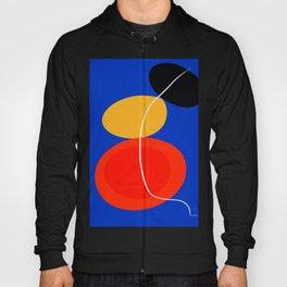 red yellow black blue abstract zen minimal art Hoody