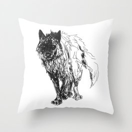 Dark Wolf Throw Pillow