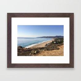 Malibu, California - Coastline Framed Art Print