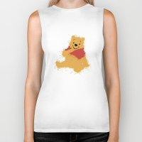 winnie the pooh Biker Tanks featuring Winnie The Pooh by DanielBergerDesign