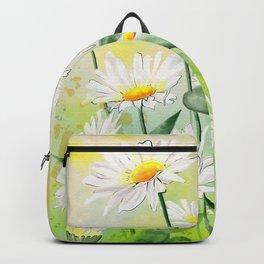 White Daisies Season Backpack