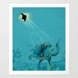Kite Manta Art Print