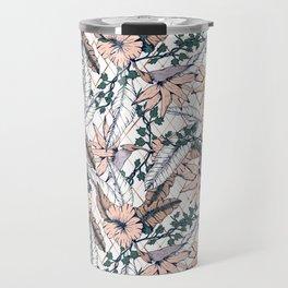 Exotic flowering and pattern geometric Travel Mug