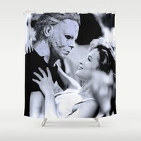 dirty dancing Shower Curtains featuring MICHAEL MYERS IN DIRTY DANCING by Luigi Tarini