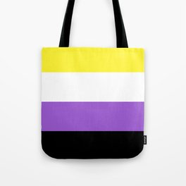Nonbinary Pride Flag Tote Bag