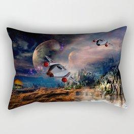 Planetary Encounter Rectangular Pillow