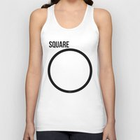 square Tank Tops featuring SQUARE by try2benice