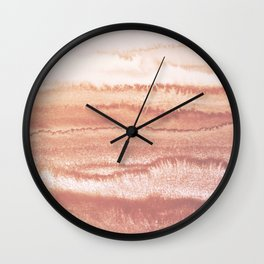WITHIN THE TIDES BURNISH EARTH by Monika Strigel Wall Clock