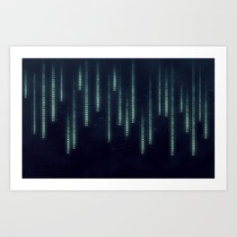 Nerd binary code Art Print