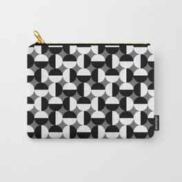 Geometric Circles Grey/Gray Carry-All Pouch