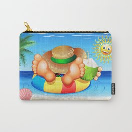 Summer Relax on the Sea Carry-All Pouch