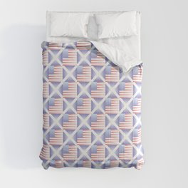 Mix of flag  : usa and scotland 2 with color gradient Comforters