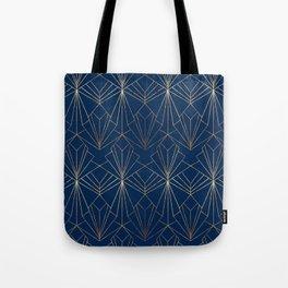Navy & Gold Art Deco Tote Bag
