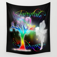 fairytale Wall Tapestries featuring Fairytale by Augustinet