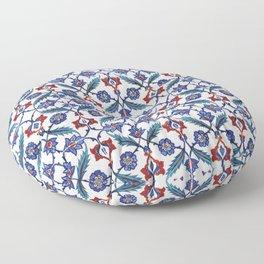 Iznik Tile Pattern Red Blue White Green Floor Pillow
