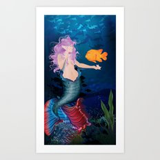 Pacific Mermaid Art Print