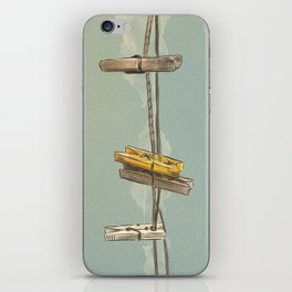 Vintage Clothespin iPhone Skin