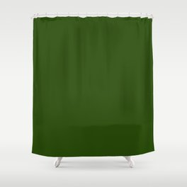 Tread Lightly ~ Forest Green Shower Curtain