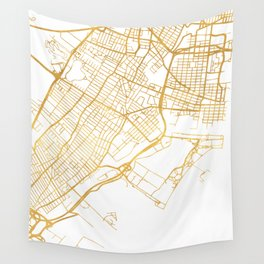 JERSEY CITY NEW JERSEY STREET MAP ART Wall Tapestry