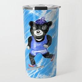 Skating bear Travel Mug