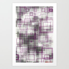 purple squares Art Print