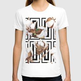 Cotton Flower Pattern 07 T-shirt