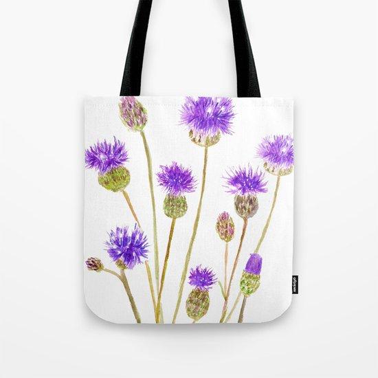purple thorny wildflower Tote Bag