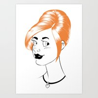 Sheena is... orange Art Print
