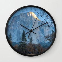 El Capitan First Light Wall Clock